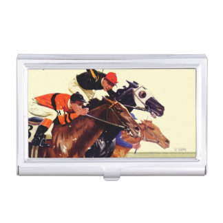 Thoroughbred Race Business Card Case
