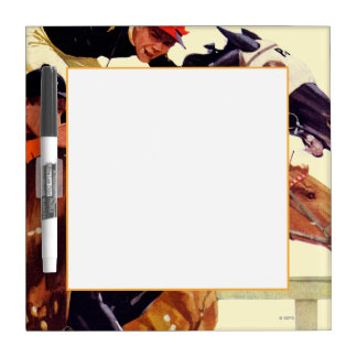 Thoroughbred Race Dry Erase Board