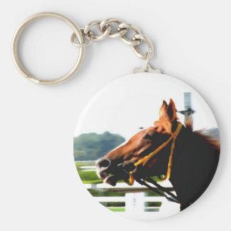 Thoroughbred race horse keychain