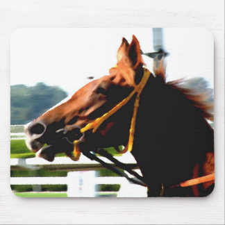 Thoroughbred race horse mouse pad