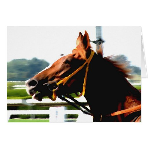 Thoroughbred race horse note card