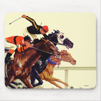 Thoroughbred Race Mouse Pad