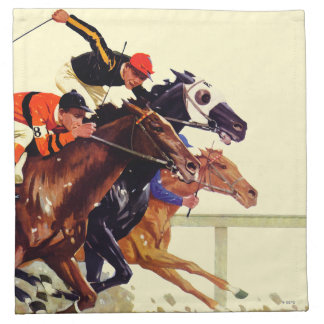 Thoroughbred Race Napkin