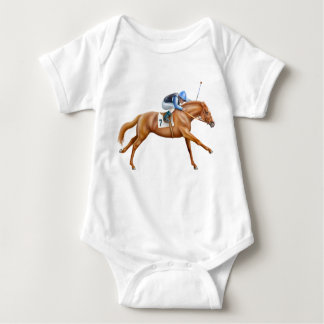 Thoroughbred Racehorse Infant One Piece Baby Bodysuit