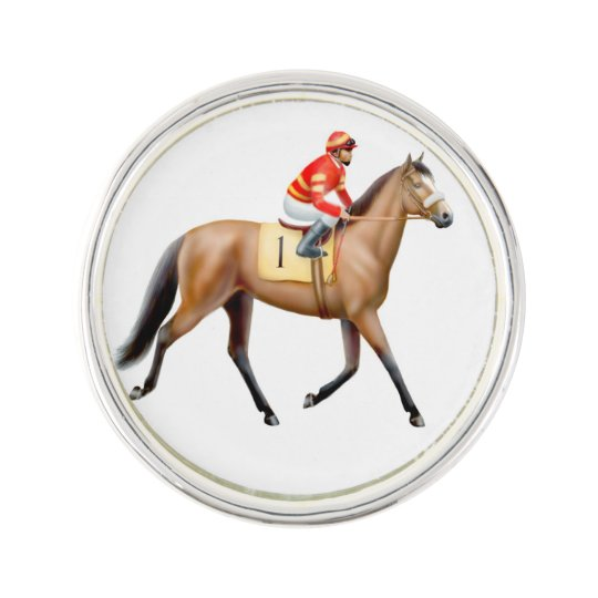 Thoroughbred Racehorse Racing Lapel Pin