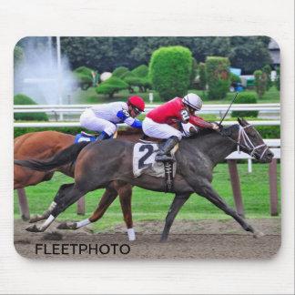 Thoroughbred Racing at Historic Saratoga Racetrack Mousepads