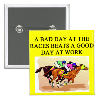 thoroughbred racing lovers 15 cm square badge