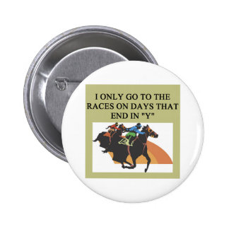 thoroughbred racing lovers 6 cm round badge