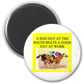 thoroughbred racing lovers 6 cm round magnet