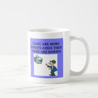 thoroughbred racing lovers basic white mug