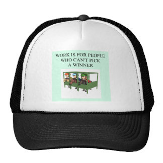 thoroughbred racing lovers cap