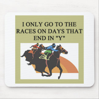 thoroughbred racing lovers mouse mat