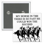 thoroughbred racing lovers pinback buttons