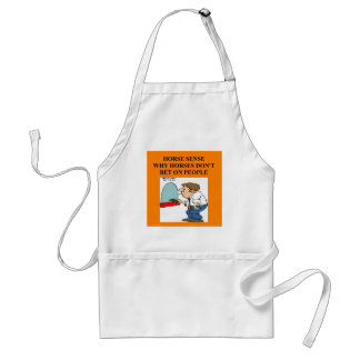 thoroughbred racing lovers standard apron