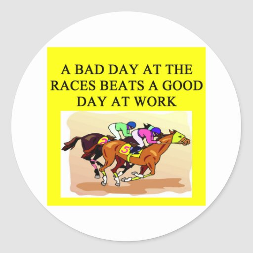 thoroughbred racing lovers sticker