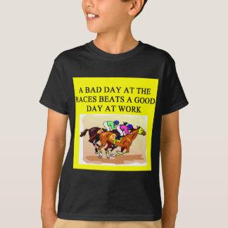 thoroughbred racing lovers tee shirt
