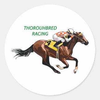 Thoroughbred Racing Round Sticker