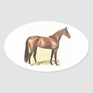 Thoroughbred Oval Sticker