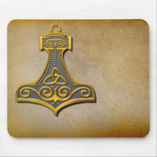 Thor's Hammer_Gold Mouse Mat