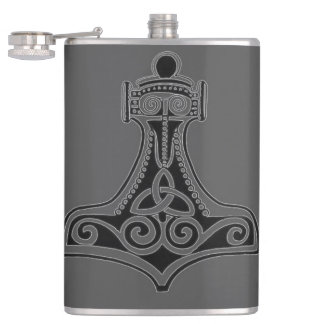 Thor's Hammer (Grey) Flasks