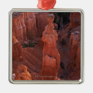 Thor's Hammer hoodoo on Navajo Trail Silver-Colored Square Decoration