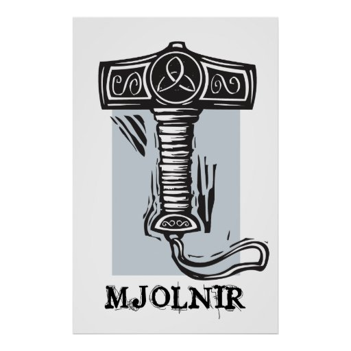 Thor's hammer Mjolnir Print