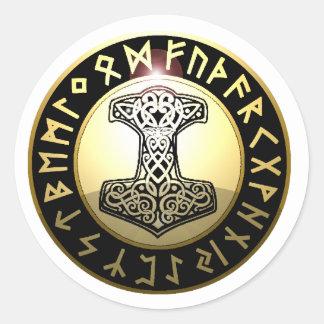 Thor's Hammer Round Sticker