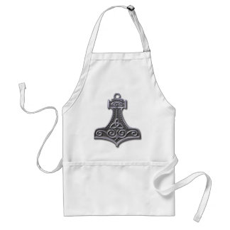 Thor's Hammer-silver Standard Apron
