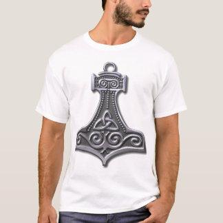 Thor's Hammer-silver T-Shirt