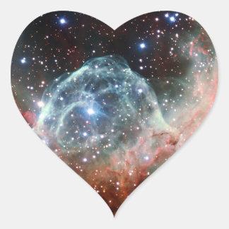 Thor's Helmet Nebula Space Heart Sticker