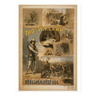 Thos .W. Keene, 'Richard III' Vintage Theater Postcard