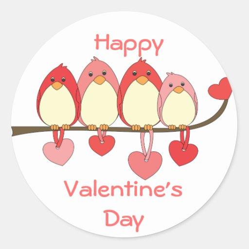 Those Birds On Valentines DAy Round Sticker