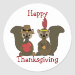 Those Thanksgiving Squirrels Stickers
