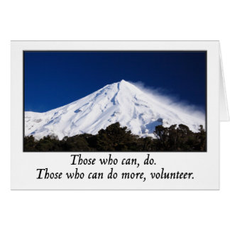 Those who can do more volunteer greeting cards