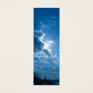 those who hope in the LORD - Bookmark Mini Business Card