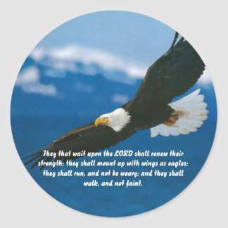 Those Who Wait On The Lord Round Sticker