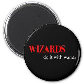 Those Wizards.... 6 Cm Round Magnet
