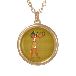 Thoth, Ancient Egyptian God Gold Plated Necklace