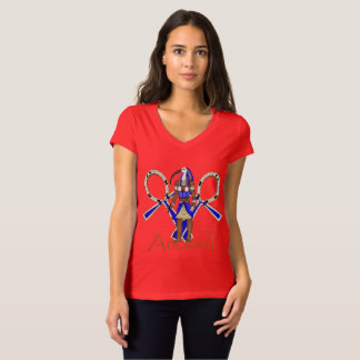 Thoth Ancient Ladies Jersey V-Neck T-Shirt
