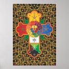 'Thoth Tarot' Rose Cross Lamen Poster