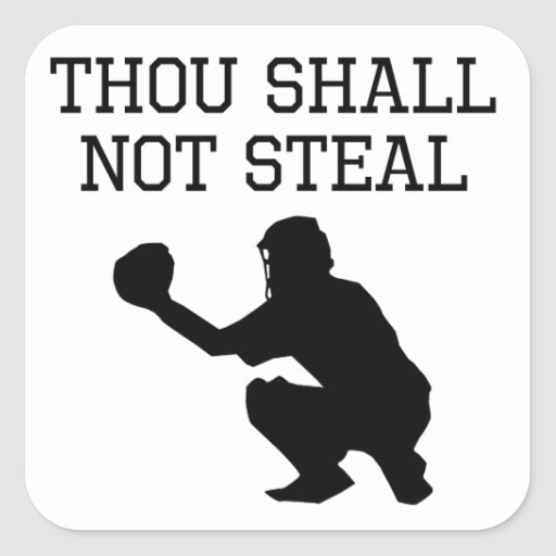 Thou Shall Not Steal Sticker