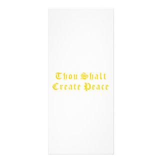 Thou Shalt Create Peace Personalized Rack Card