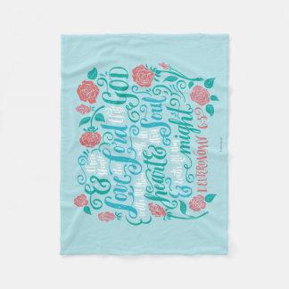 Thou Shalt Love the Lord thy God Fleece Blanket