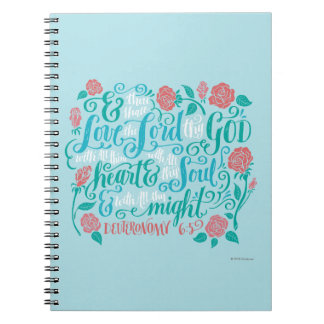 Thou Shalt Love the Lord thy God Spiral Note Book