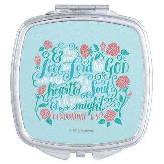 Thou Shalt Love the Lord thy God Vanity Mirror