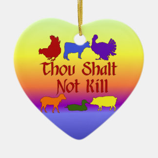 Thou Shalt Not Kill Christmas Ornament