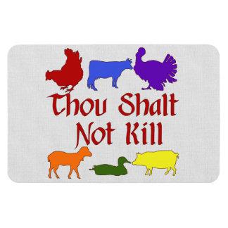 Thou Shalt Not Kill Rectangular Photo Magnet