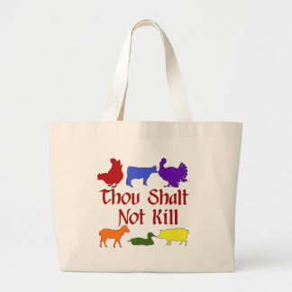 Thou Shalt Not Kill Jumbo Tote Bag