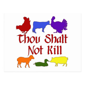 Thou Shalt Not Kill Postcard