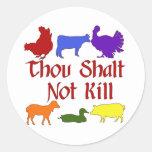Thou Shalt Not Kill Sticker